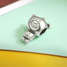 925 Sterling Silver LOVE charm fit original Pandora bracelet metal bear animal DIY jewelry Necklace Gift bamoer valentine day gift 925 sterling silver cheers for love couple beer pendant charm fit charm bracelet diy jewelry scc478