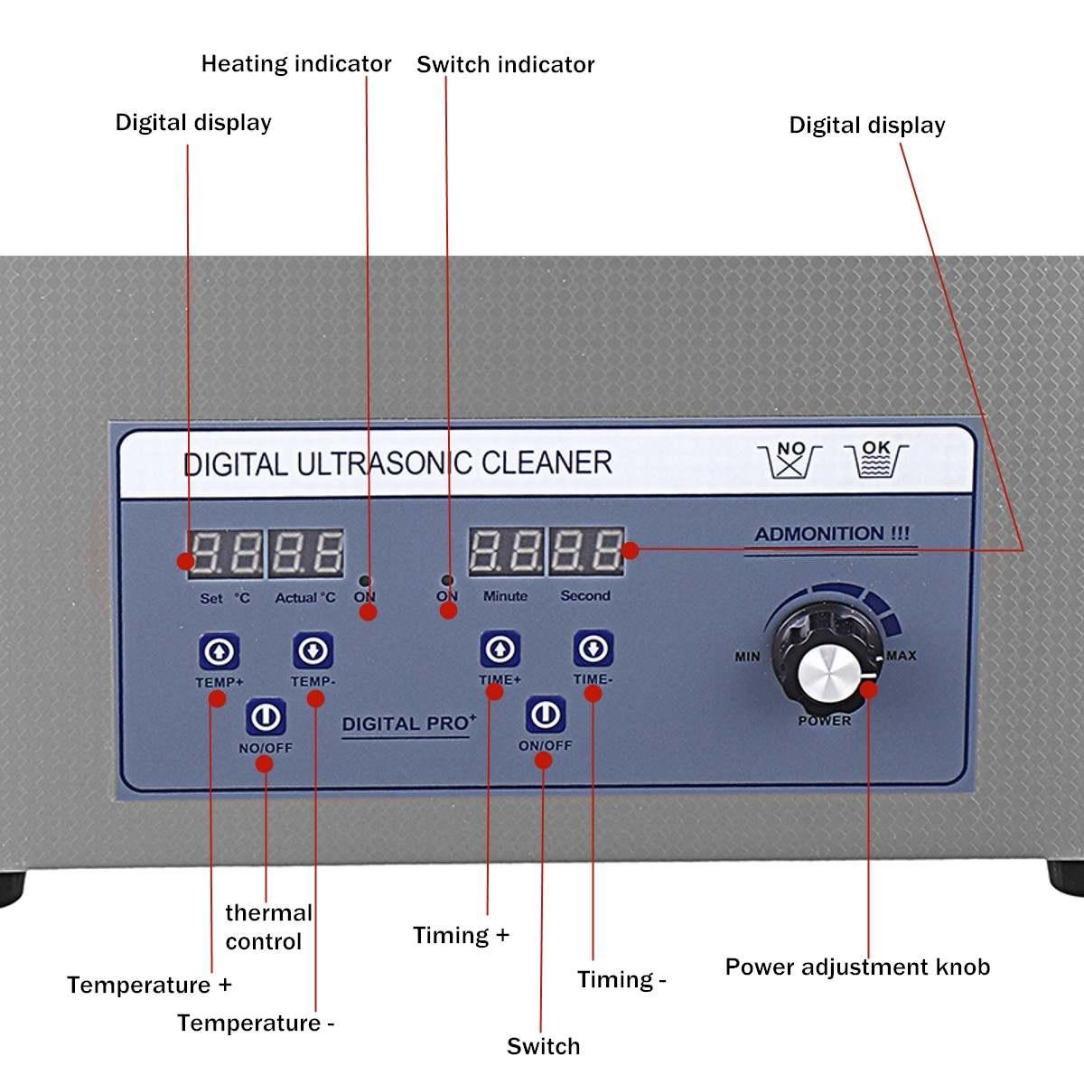 Profissional de 6l 220 v liftable lp álbum disco digital ultra sônico mais limpo vinil registro lavagem ultra som máquina limpeza portátil - 6