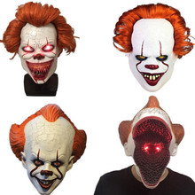 Stephen Kings It Pennywise Mask LED Clown Latex Masque Movie Cosplay Helmet Prop masks