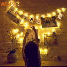 Photo Clip lamp LED String lights Battery DC 5V Christmas Holiday Party Wedding Decoration Fairy lights 1m 2m 5m 10m