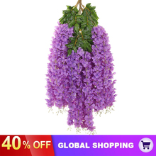 Vine Wisteria-Flowers Artificial Wedding Silk for Garden Outdoor-Decor 12-Pack Hanging