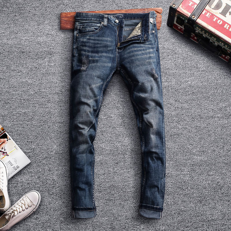 Special Offers Ripped Jeans For Men Slim Brands And Get Free Shipping A680