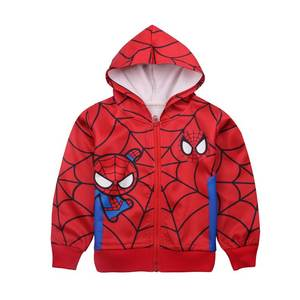 Red Spiderman Baby Jacket Kids Zipper Coat Boys Winter Jacket Spider-Man Cosplay Clothes Comfortable Spider