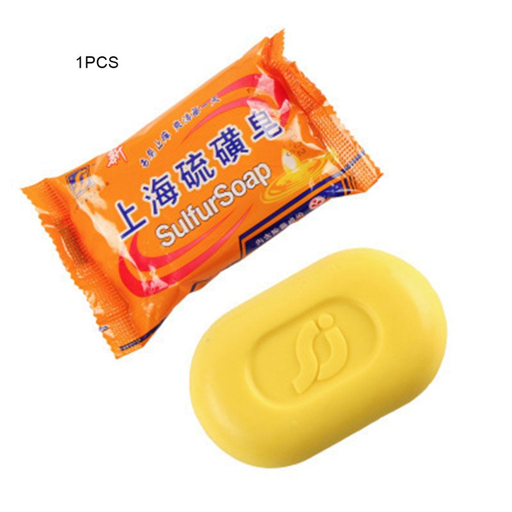 Shanghai Sulphur Soap Removes Mites Dead Sea Minerals And Sulfur Olive Oil And Aloe Vera Keep Skin Clear Again 1 Pcs