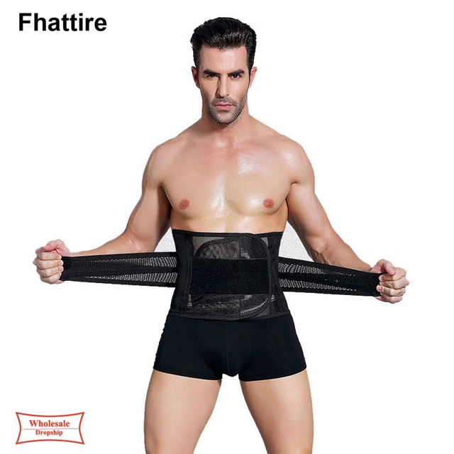 New Men Slimming  Corset Belt Shapewear Sweat Body Shaper Mens faja hombre Waist Trainer Fat Burning Premium Waist Trimmer Belt