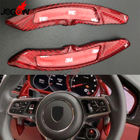 Car Carbon Fiber Steering Wheel Shifter Paddle Extension Trim For Catapult Start Cayenne S GTS Turbo Panamera Macan 718 911 918