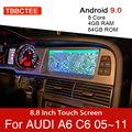 Автомобильный мультимедийный плеер, Android 9,0, 4 + 64 ГБ, для Audi A6 C6 4f 2005 ~ 2011 MMI 2G 3G, GPS-навигация, навигация, стерео, сенсорный монитор