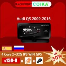 """Coika 10.25 """"アンドロイド 10.0 システム車のgpsナビラジオアウディQ5 2009 2017 ipsタッチスクリーンステレオgoogle wifi bt音楽swc 2 + 32 グラム"""