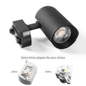 Image 4 - 10W/20W/30W/40W LED Track Light COB Track Lights Rail Spotlight Lamp Fixtures Fruit Shop Clothes Store Indoor Lighting 10pcs/lot