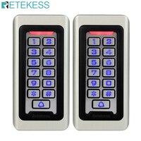 2pcs RETEKESS Keypad RFID Access Control System Proximity Card Standalone 2000 Users Door Access Control Waterproof Case F9501D