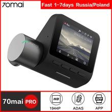 70mai Dash Cam Pro Smart car dvr камера Wifi 1944P HD gps ADAS Голосовое управление монитор парковки 140FOV камера ночного видения