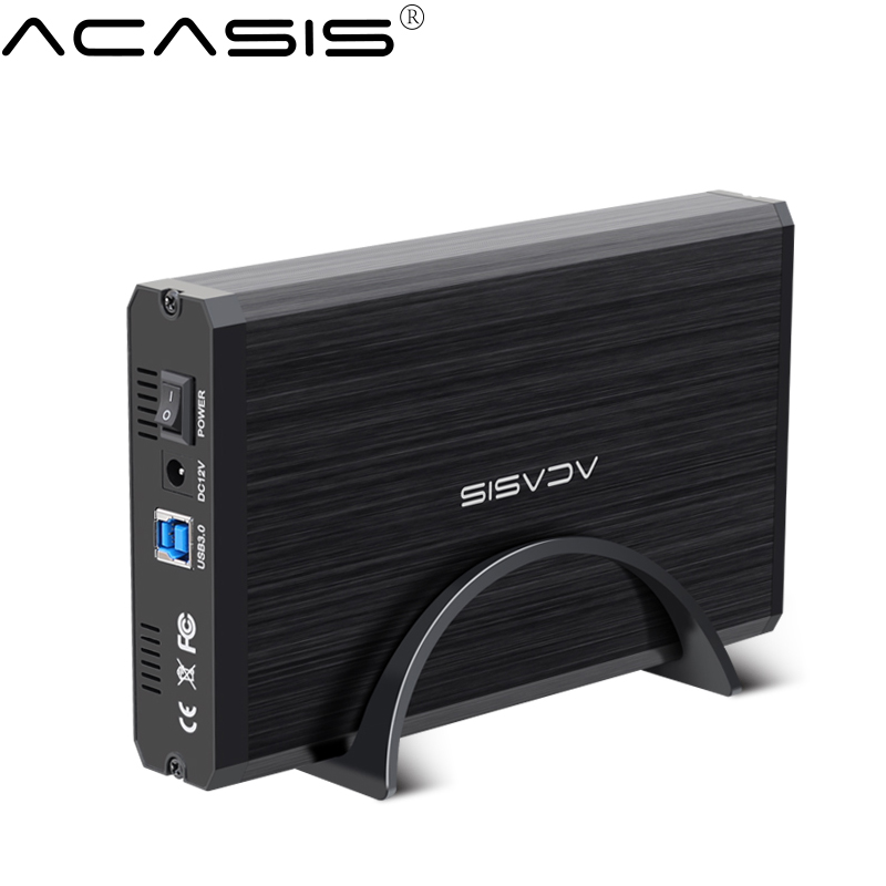 Acasis HDD Case 3.5 2.5 SATA to USB 3.0 Hard Drive Disk External Enclosure SSD HDD Disk Case Box Enclosure Reader 3.5 HDD Case