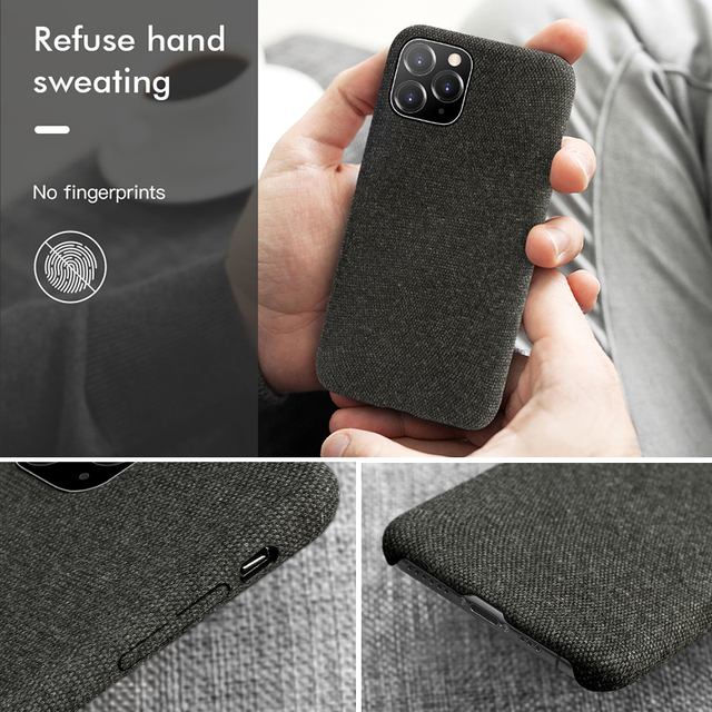 Luxury Plush Fabrics Soft Back Cover For iPhone 11 Pro MAX Case Cotton Linen Cloth Phone Cases For iPhone X 8 7 6 6S Plus Coque 5