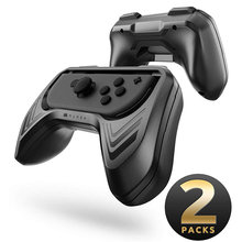 Mumba Grip für Nintendo Schalter Freude Con, 2 Pack Schalter Controller Grip Griff Kit für Nintendo Schalter Freude Con (Schwarz)