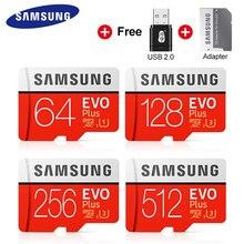 Samsung-Tarjeta de memoria EVO Plus 4K, ultra HD, Micro SD, 256 GB, 128 GB, 64 GB, Class10, UHS-I