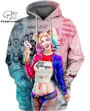 PLstar Cosmos DC Harley Quinn anime Super Attack Speed 3d hoodies/shirt/Sweatshirt Winter autumn funny Harajuku streetwear-6