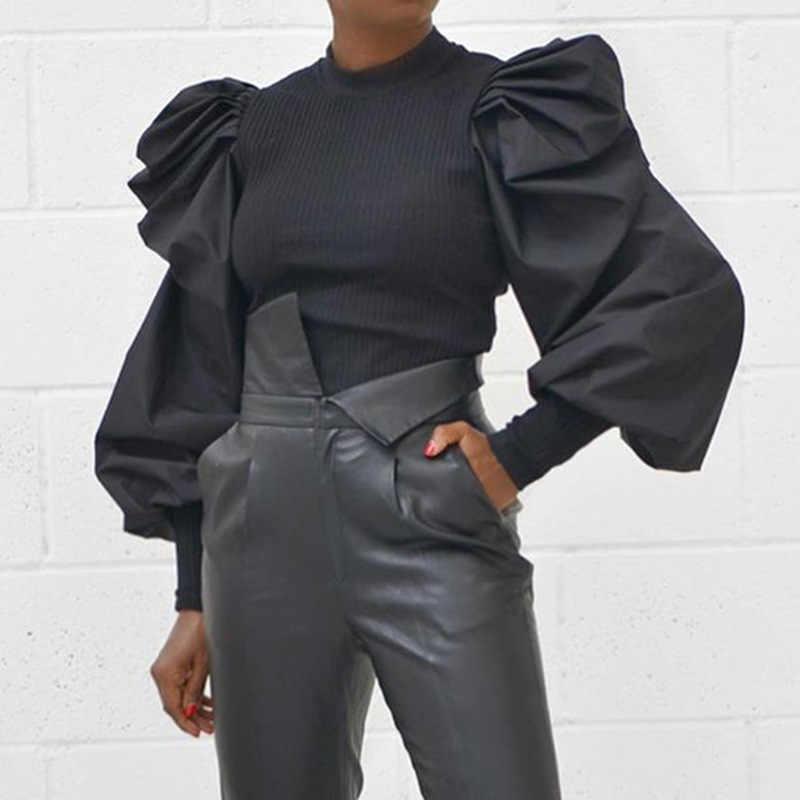 2020ผู้หญิงฤดูหนาวเสื้อกันหนาวสีดำสีขาวแฟชั่นPullover Basic Jumperฤดูใบไม้ร่วงฤดูใบไม้ร่วงOคอถักถักเสื้อกันหนาวหญิง