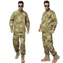 Тактический в стиле армии США немецкая флектарна Униформа Боевой страйкбол рубашка+ брюки Камуфляжный костюм спецназа охотничья униформа для мужчин