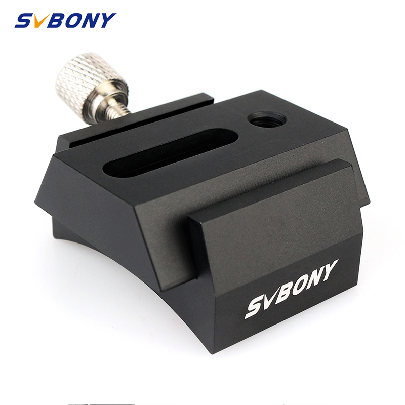 SVBONY 42mm Dovetail Groove With Locking Screw Connect Finderscope Guide Scope Adapter Bracket For Astronomical Telescope F9176A