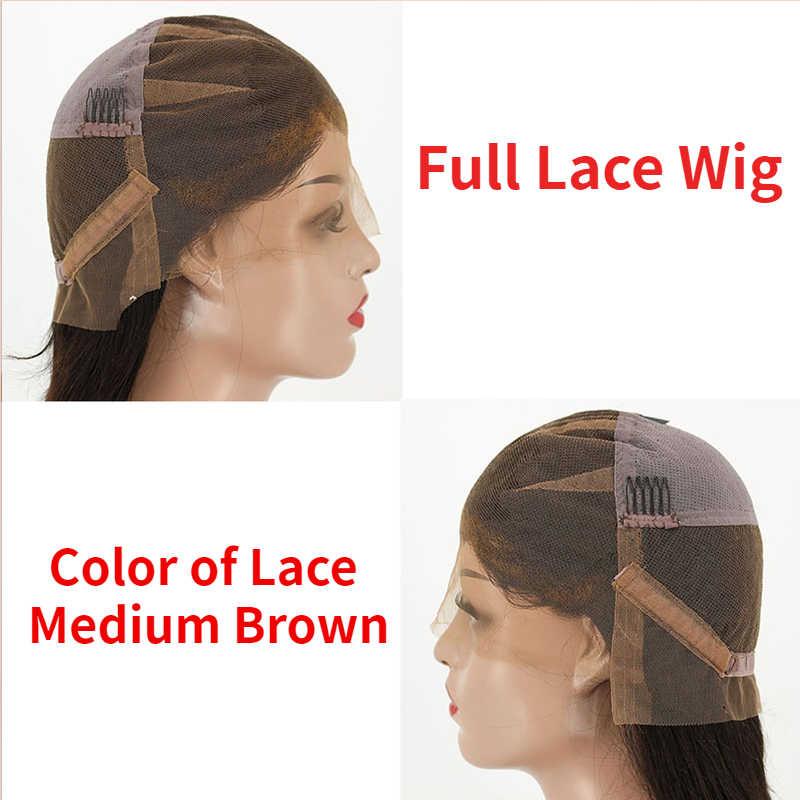 Heilige Belle # 1b & Natuurlijke Kleur Lang Krullend Full Lace Menselijk Haar Pruiken Voor Vrouw Braziliaanse Remy Human Hair met Baby Haar