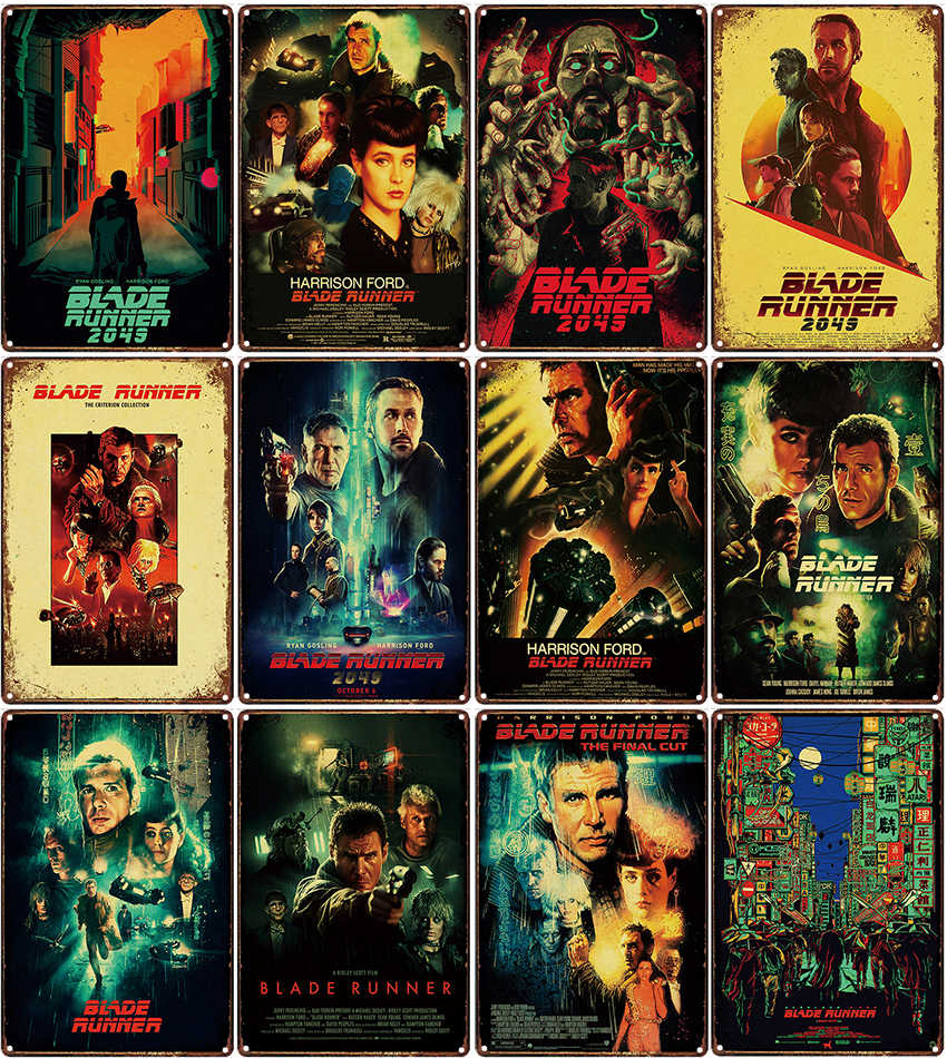 Blade Runner  FILM MOVIE METAL TIN SIGN POSTER WALL PLAQUE