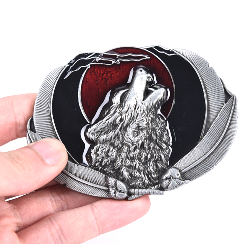 Zinc Alloy Animal Wolf Belt Buckle For Mens Accories Suitable For 4cm Width Belt Diy Belt Dropshipping
