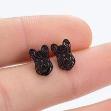 Boucles d'oreilles en forme de pattes de chien pour femmes, bijoux en forme de bouledogue français, Chihuahua, à la mode