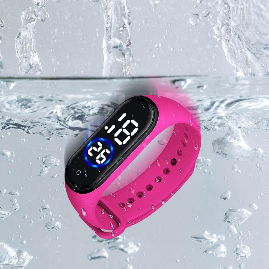 Электронные часы для мальчиков девочек часы время дисплея Сид безопасный материал наручные часы детские подарки спортивные часы
