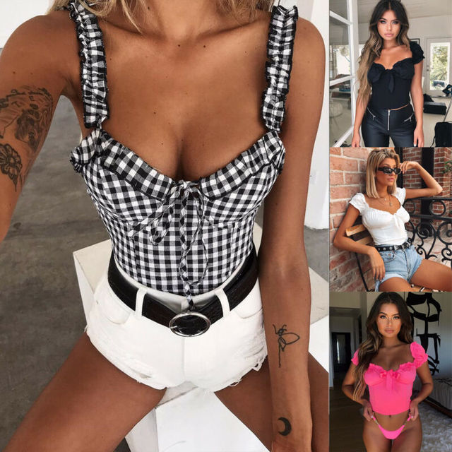 New Women Sexy Off Shoulder Casual Bralet Top Blouse 2019 Summer Female Tops Ropa Mujer 2