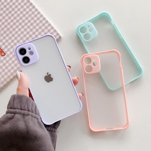 Cute Cartoon Pink cat Hellos Kittys Phone Cases matte transparent  For iphone 7 8 11 12 plus mini x xs xr pro max cover