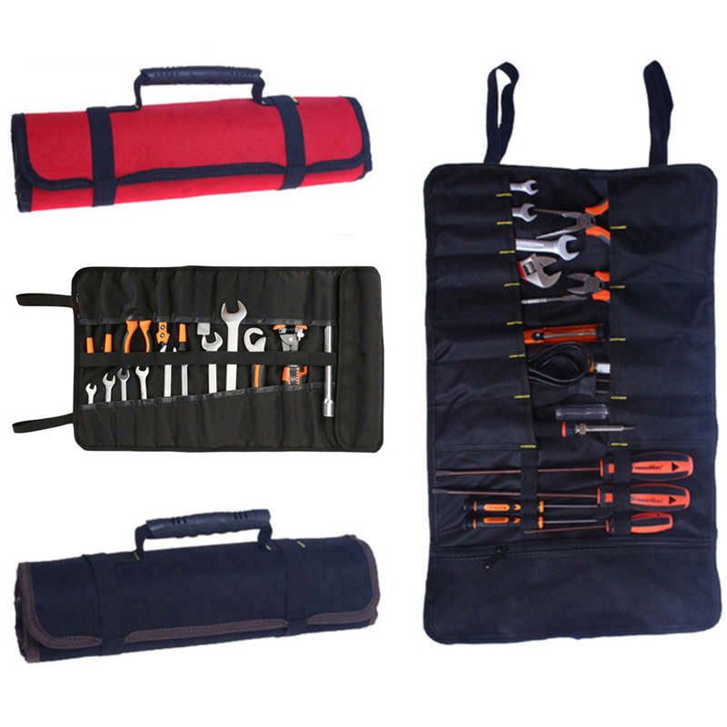 Urijk 1PC Waist Bag Tool Bag For Electrician  Contractor Handware Tool Storage Bags Multi-size Magnetic Storage Bags