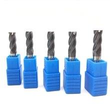 5 шт. HRC45 4 флейты 8 мм твердосплавные концевые фрезы 60 мм длинные боковые фрезерные долбежные профилирования лица Мельница