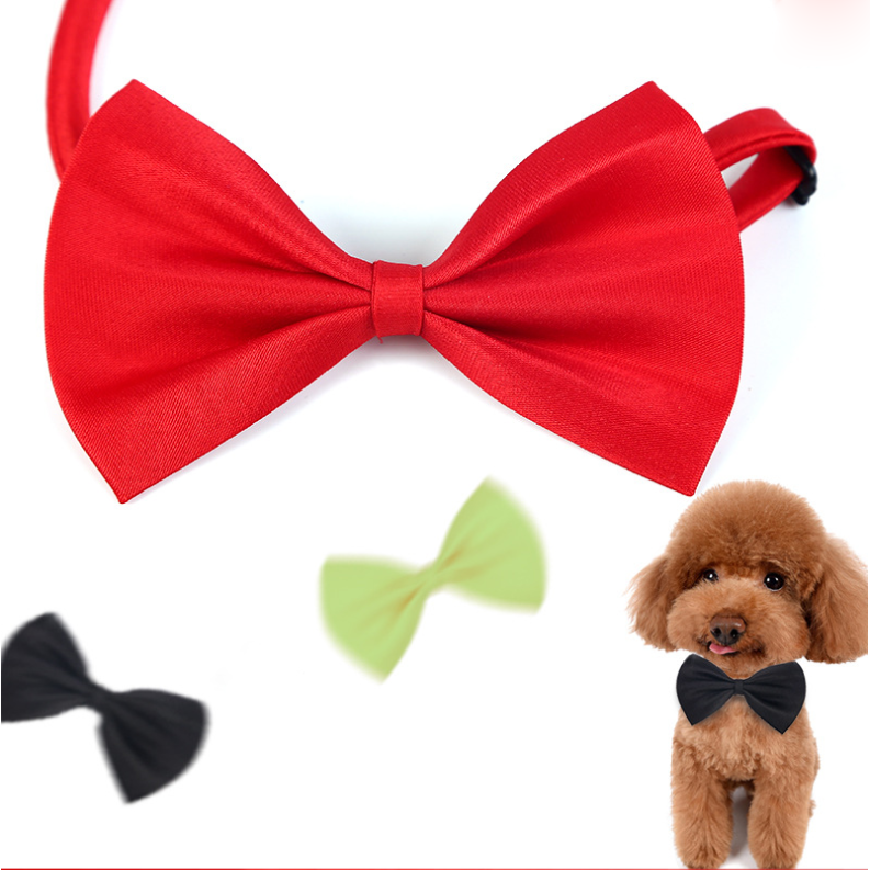 Pet Dog Cat Collar Adjustable Strap Bow Tie Puppy Supplies