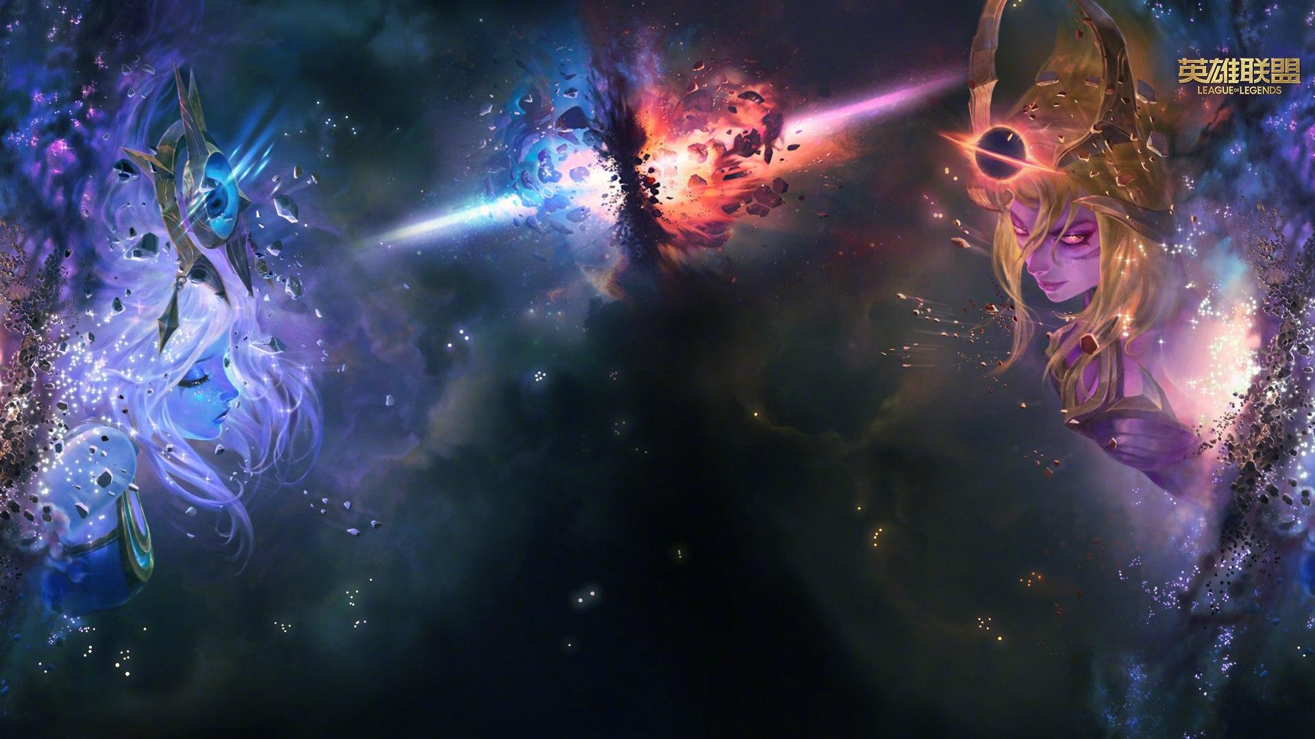 英雄联盟银河战争主题插画桌面壁纸