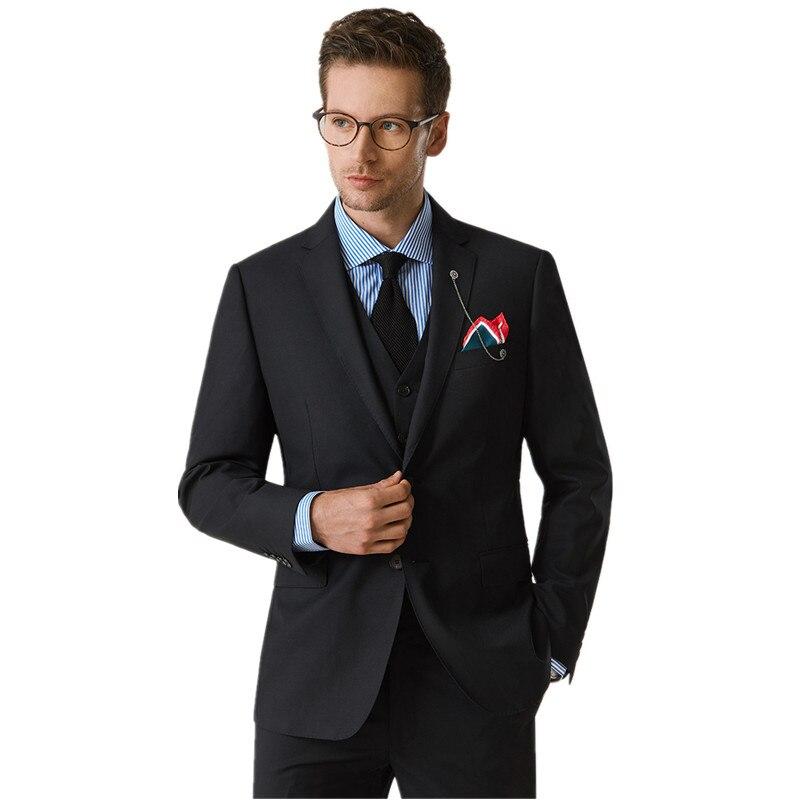 Groomsmen Slim-Fit Black Tuxedos