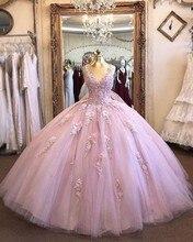 ANGELSBRIDEP suknia z wycięciem Quinceanera suknie 15 Party formalna aplikacja długość podłogi Masquerade suknie urodzinowe