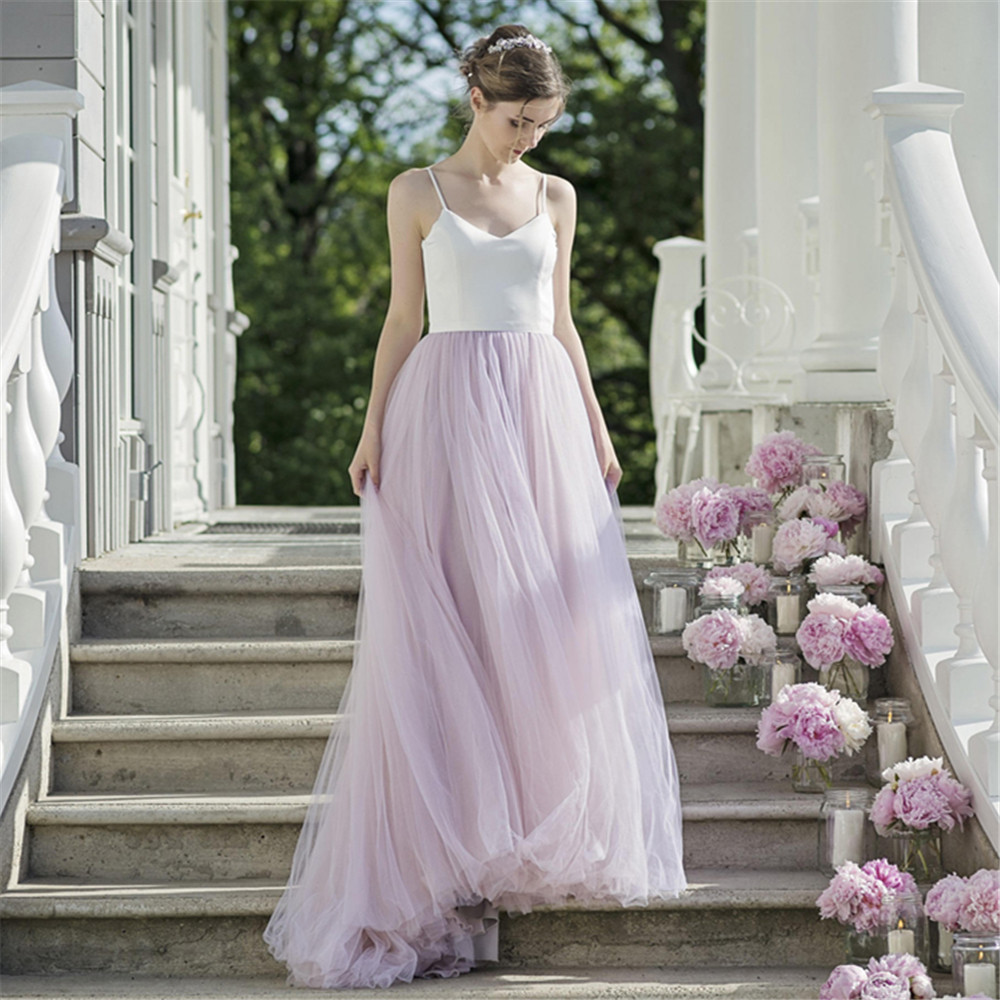 New <font><b>Boho</b></font> <font><b>Wedding</b></font> <font><b>Dress</b></font> <font><b>2019</b></font> Satin Tulle A-Line <font><b>Sexy</b></font> <font><b>Backless</b></font> Beach Bride <font><b>Dresses</b></font> <font><b>Wedding</b></font> Gown Vestidos de Noiva image