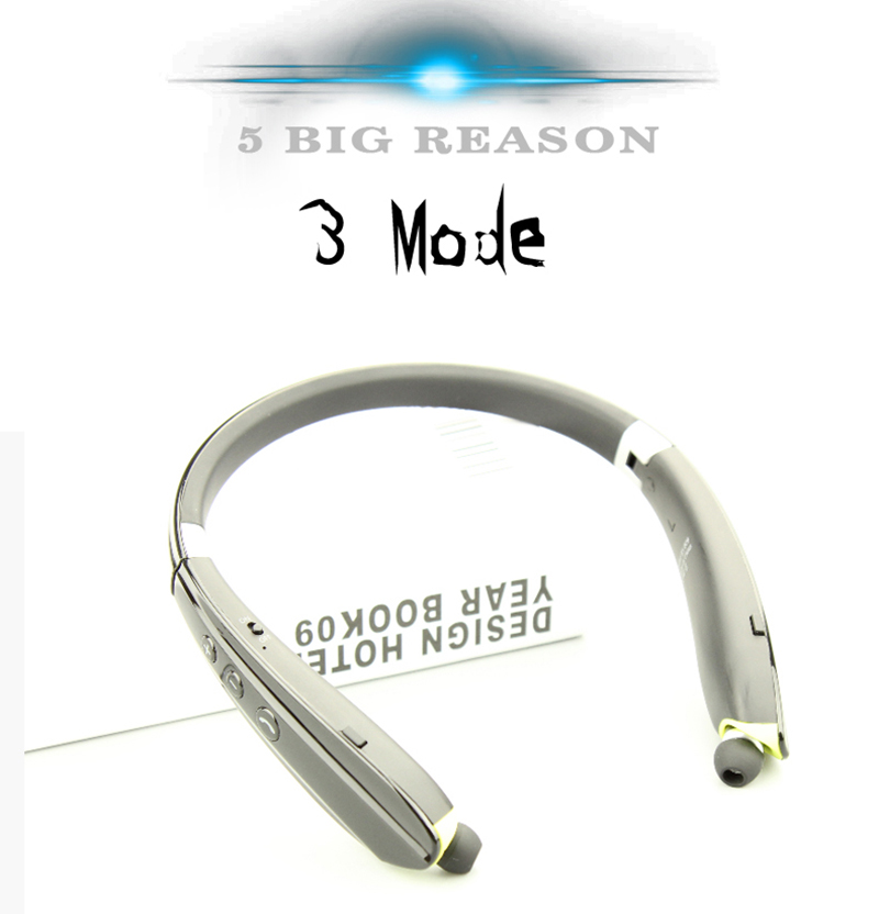 SUICEN 806 Pluggable Card Music Sport Retract Earphones Foldable Headset Wireless Headphone