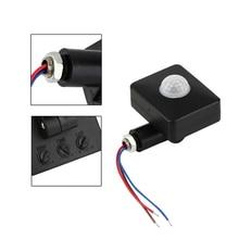 Mini Infrared Sensor 110-240V PIR Sensors Detector 180 Degree Up and Down Rotation OUJ99