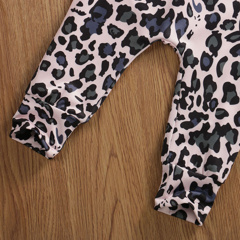 Pudcoco US Stock Newborn Baby Girl Clothes Sets Letter Printed Tops Leopard Print Pants Headband 3PCS Outfit Clothes 0-24M