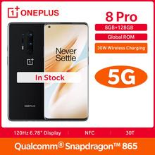 "New OnePlus 8 Pro 8GB 128GB Smartphone Snapdragon 865  6.78"" Fulid AMOLED 120HZ Screen 48MP Quad Camera 4510mAh Warp 30T"