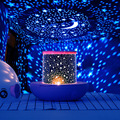 2 Цвета цветной проектор звездного неба USB Звездное с водяным знаком горлышко в форме Звездный проектор этап с водяным знаком горлышко в фор...