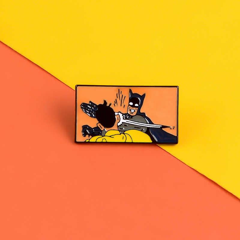 만화 애니메이션 에나멜 핀 예 소녀 페미니스트 배지 과학 화학 브로치 데님 자켓 가방 옷깃 핀 패션 쥬얼리 선물