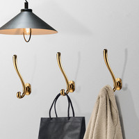 Colgador de pared de Metal de aleación tejido de Zinc Vintage, percha de baño para Albornoz, percha rústica, gancho, bolsa, sombrero, 040