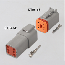 цена на 100 sets Kit Deutsch DT 6 Pin Waterproof Electrical Wire Connector plug Kit 22-16AWG DT06-6S DT04-6P