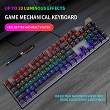 Teclado mecânico do jogo usb prendido 104 chaves anti-ghosting led retroiluminado rgb para o desktop da tabuleta