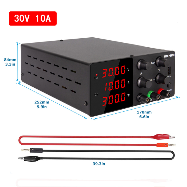 منظم تيار مستمر مختبر امدادات الطاقة قابل للتعديل 30 فولت 10A 60 فولت مختبر الجهد المنظم 220 فولت استقرار التبديل مقعد مصدر 30 فولت