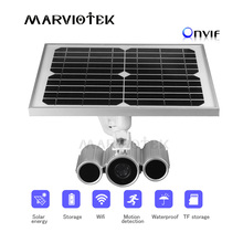 Беспроводная ONVIF ip камера wifi HD наружная Солнечная камера cctv wifi видеонаблюдение P2P IP камера 1080P Солнечная энергия 16 ГБ TF Карта