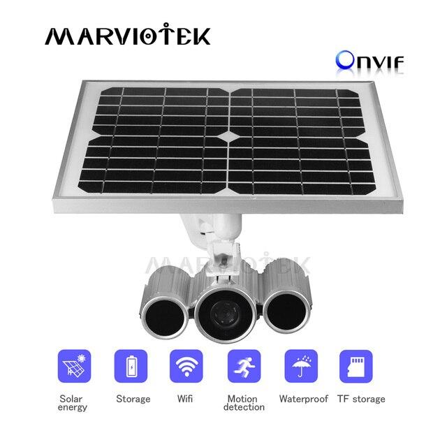 wireless ONVIF IP Camera wifi HD Outdoor Solar cctv camera wifi video surveillance P2P ip camera 1080P solar power 16GB TF card