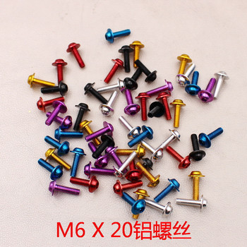 10 PCS M6 X 20 universal colorful decal metal pitbike accessories for yamaha motorcycles screw aluminum 6MM moto kit nuts bolt